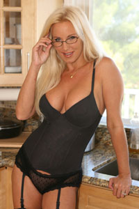 TJ Hart - Black Lingerie With Glasses - Naughty TJ